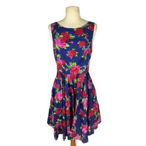 Betsey Johnson Floral Fit N Flare Dress 12